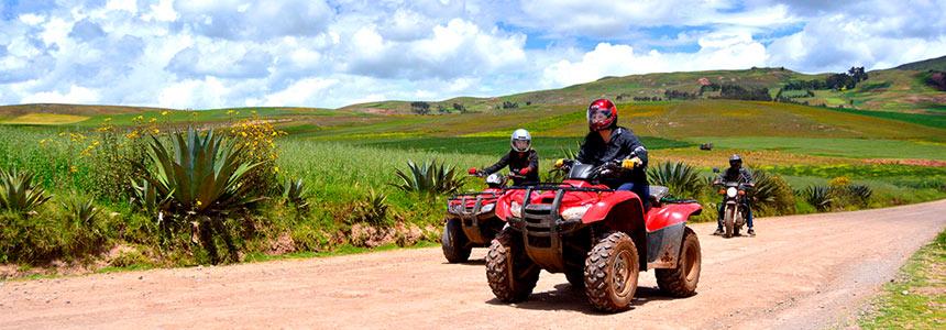 Riding an ATV through the Sacred Valley