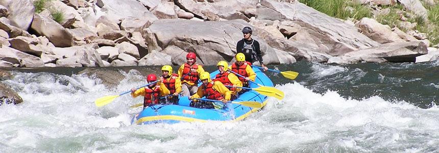 River rafting on the Vilcanota River